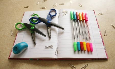 Color office tools Stock Photo - 17984157