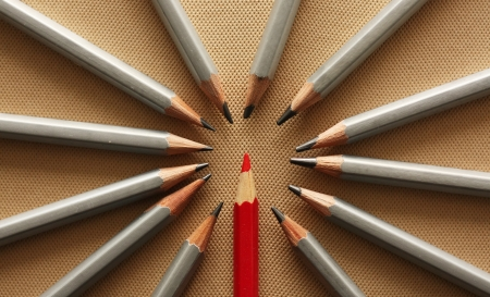Red pencil Stock Photo - 18085809