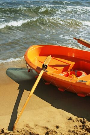 lifeboat: Orange lifeboat