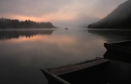 Sunrise on the river photo