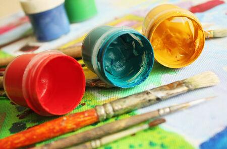 gouache: Painters brushes