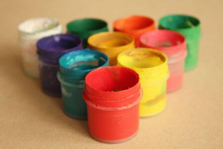 gouache: Color paints Stock Photo