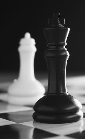 Conflict chess concept photo