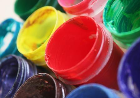 paints: Color paints Stock Photo