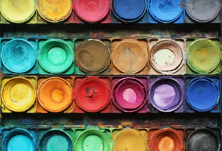 creativity: Color paints Stock Photo