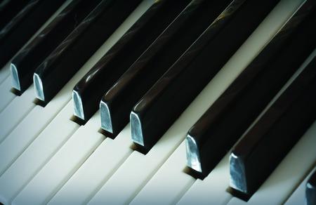 piano closeup: Piano keyboard Stock Photo