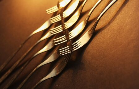 Kitchen forks concept photo