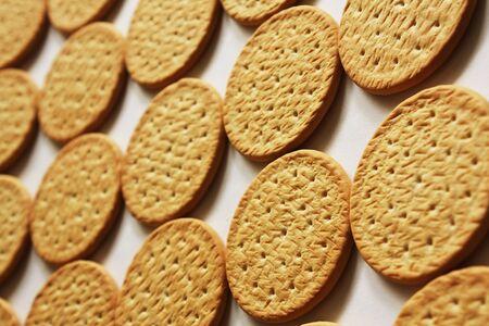 crackers: Galletas fondo Foto de archivo
