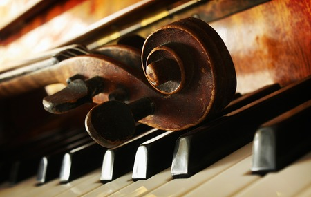 musical instrument symbol: Beautiful violin Stock Photo