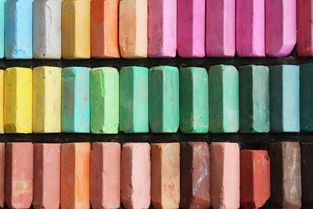 chalks: Set of color chalks Stock Photo