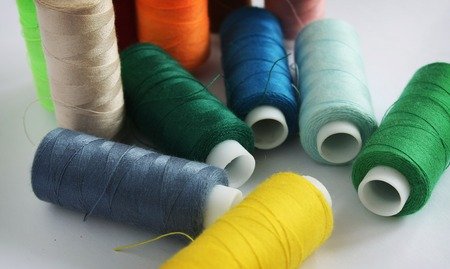 threads: Color threads Stock Photo