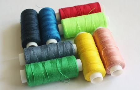 Bobbins of color thread