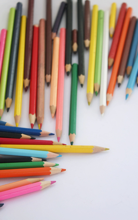 Scattered color pencils
