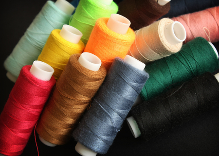 Set of color threads