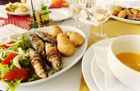 Tasty traditional Portuguese food