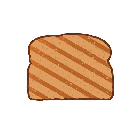 french produce: Crispy slice of bread. Toast icon. Toast for sandwich