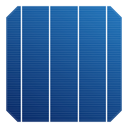 monocrystalline: Monocrystalline solar cell for solar panel. Vector solar element high efficiency. Electric element for charge battery.