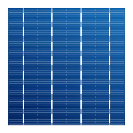 monocrystalline: Monocrystalline solar cell for solar modules. Vector photovoltaic system element. Electric element for charge battery. Crystalline solar cell for assembly panels. Illustration