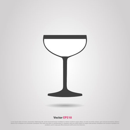 hock: Glass of sparkling vintage wine silhouette icon