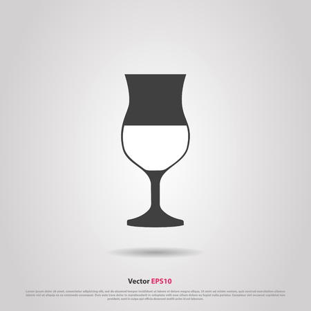 hock: Glass of desser madeira wine silhouette icon