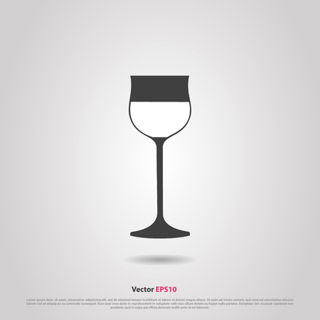 hock: Glass of hock wine silhouette icon Illustration