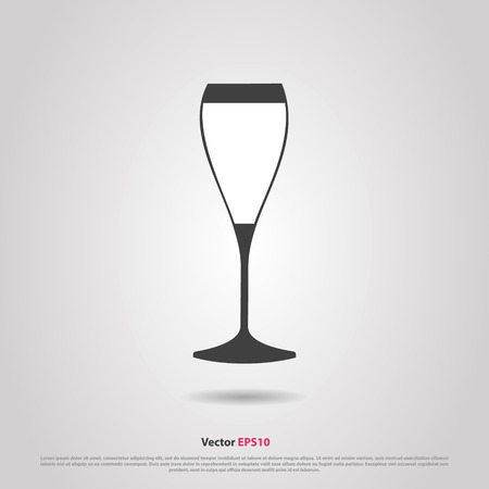 cabernet: Glass of red cabernet sauvignon  wine silhouette icon Illustration
