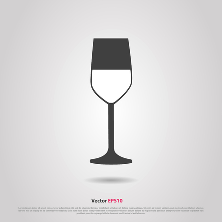 cabernet sauvignon: Glass of red cabernet sauvignon  wine silhouette icon Illustration