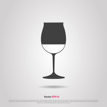 hock: Glass of red burgundy wine silhouette icon