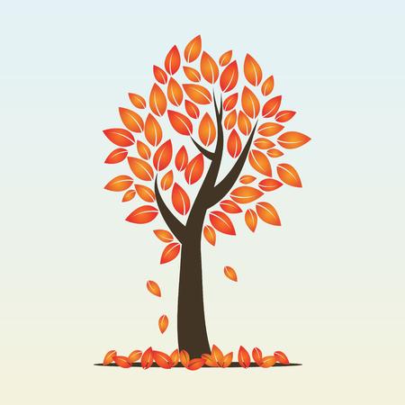 arbre de la saison d'automne avec des feuilles caduques
