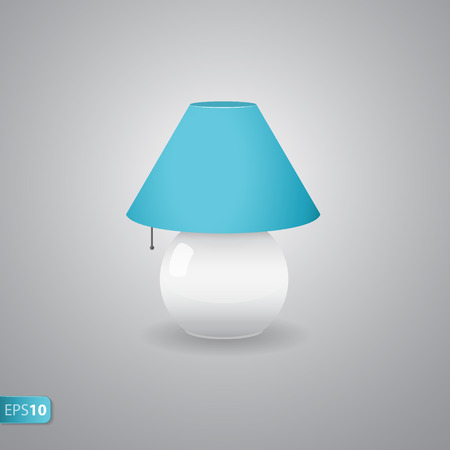 bedside: OFF bedside blue lamp icon with shadow