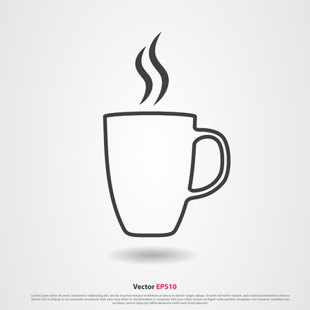 aroma: Aroma tea cup vector icon on gray background