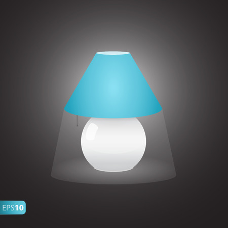bedside: ON bedside blue lamp icon with shadow