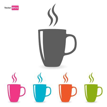 Aroma Tee farbige Tassen eingestellt Vektorgrafik