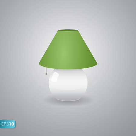 bedside: OFF bedside green  lamp icon with shadow
