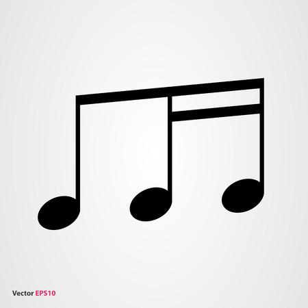 semiquaver: Music note vector icon Illustration
