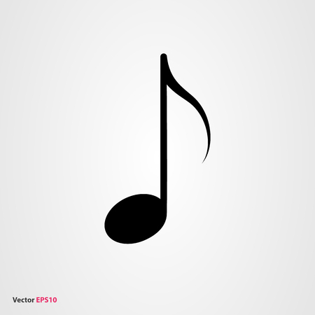sixteenth note: Music note vector icon Illustration