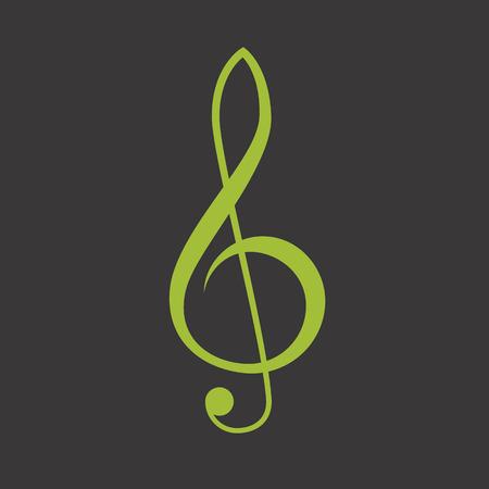 Treble clef vector icon