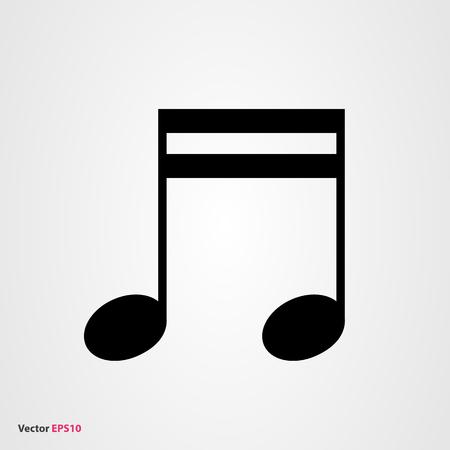 minim: Music note vector icon Illustration