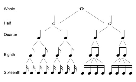 Types of musical  notes
