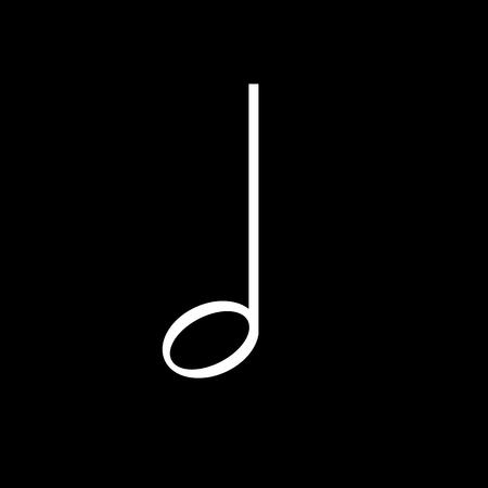 Half music note vector icon Illustration
