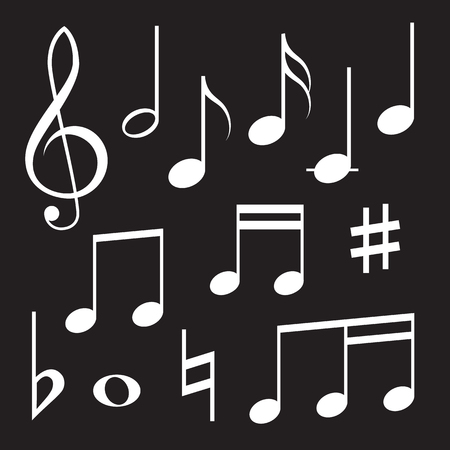 minim: Set of musical symbols Illustration