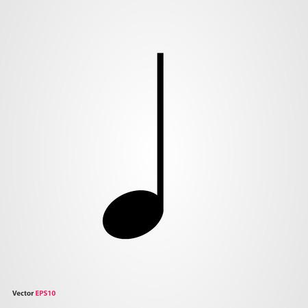 semiquaver: Quarter music note vector icon