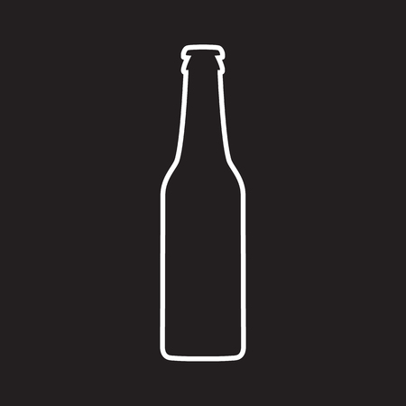 Beer bottle vector icon Illustration