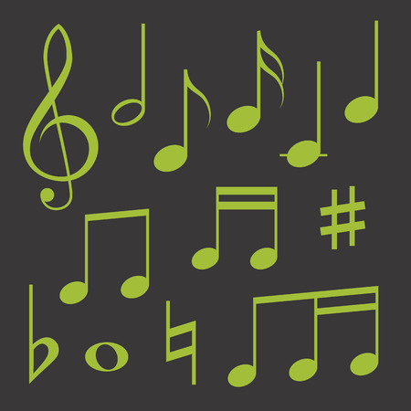 crotchet: Set of musical symbols Illustration