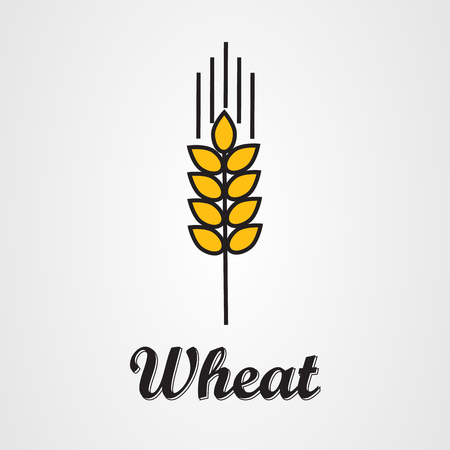 spike: Vector icon of wheat spike