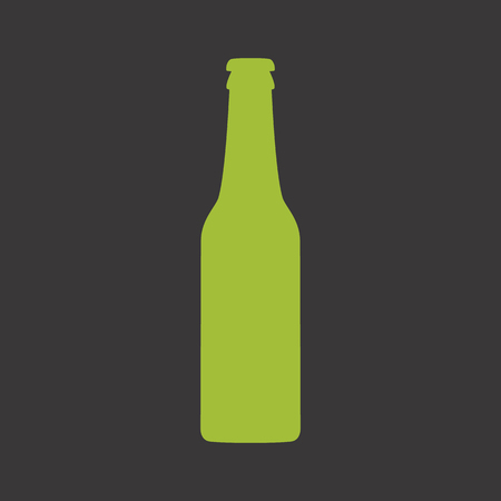 grren: Grren beer bottle vector icon Illustration