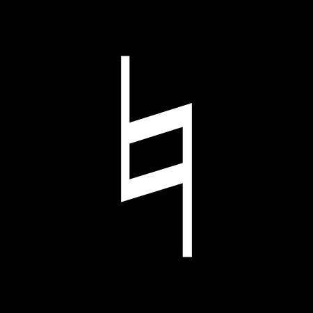 Musical symbol natural on black