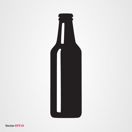 Cerveza icono de la botella de vectores