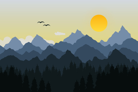 Vector illustration of mountain Illustration