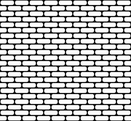 White brick wall seamless vector texture with rounded corners Vector Illustration
